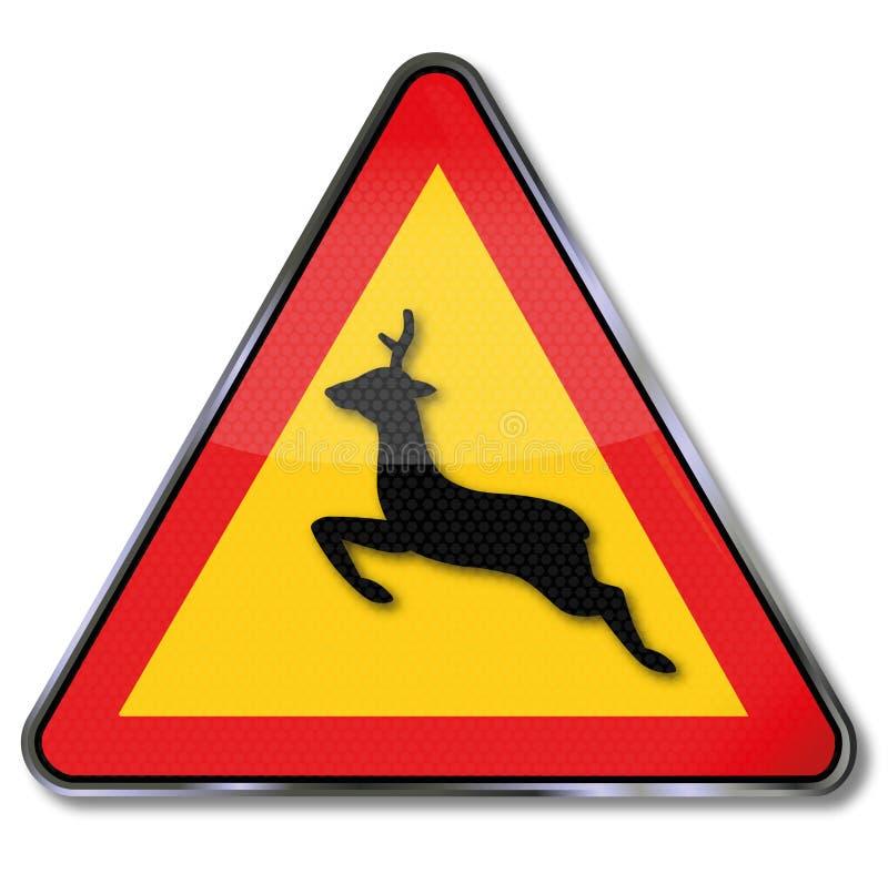 Cruzamento animal de advertência ilustração do vetor