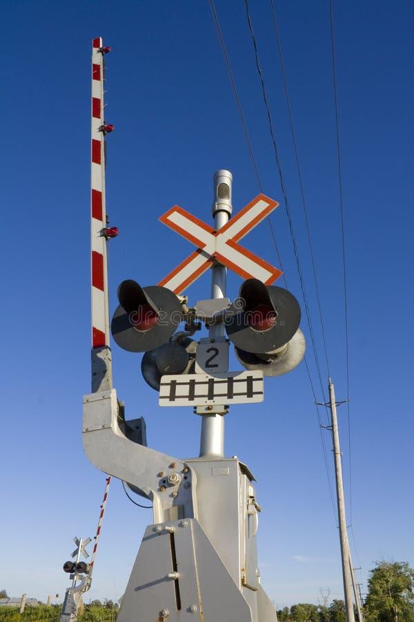 Cruzamento de estrada de ferro fotografia de stock royalty free