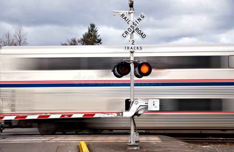 Cruzamento de estrada de ferro imagens de stock royalty free