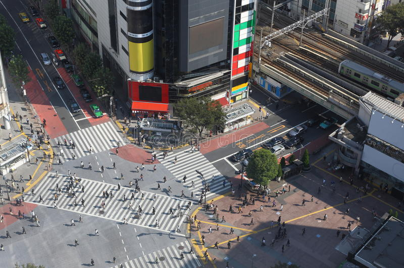 Cruzamento de Shibuya em Tokyo foto de stock royalty free