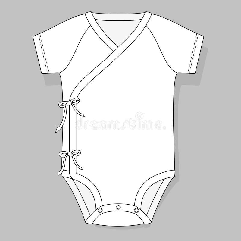 Cruzamento do bodysuit do bebê ilustração do vetor
