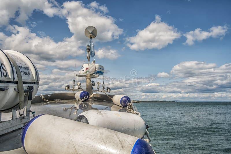 Cruzamento em Saint Lawrence Seaway fotos de stock royalty free