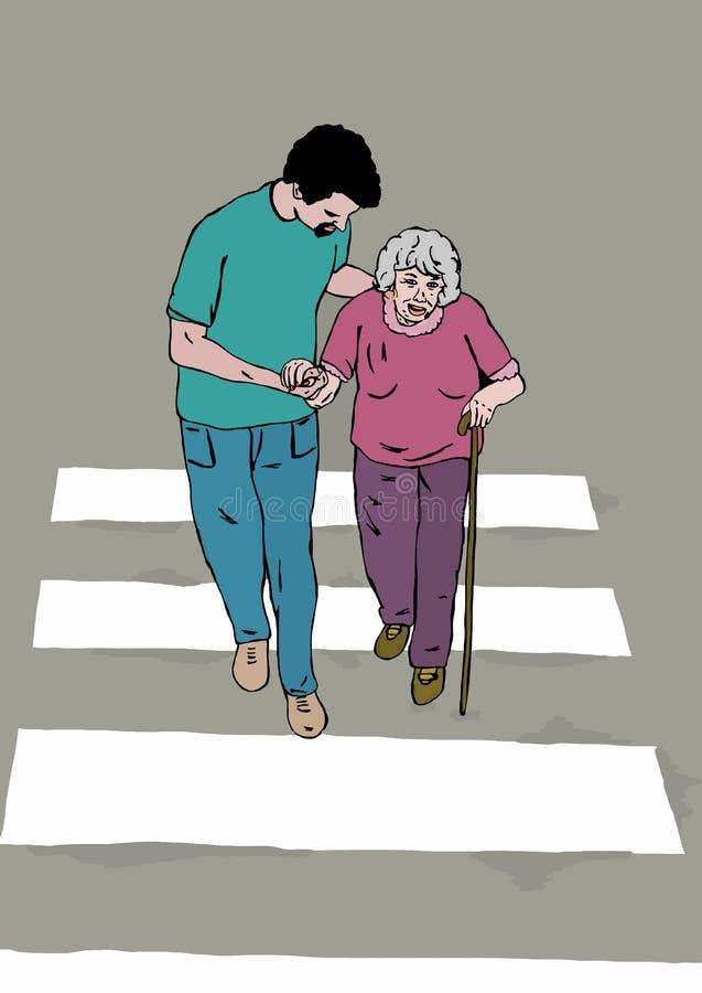 Cruzamento pedestre ilustração royalty free