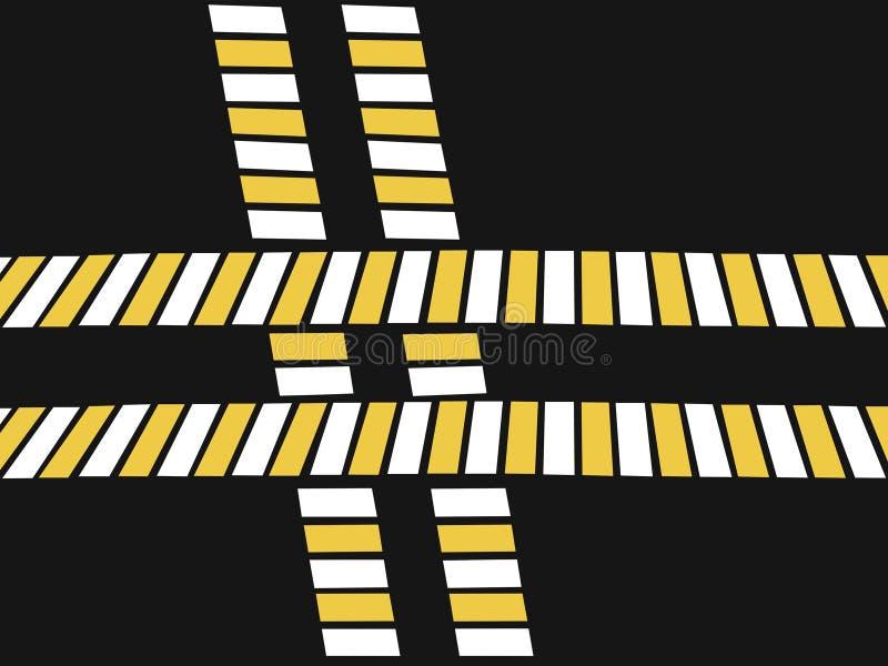 Cruzamento pedestre, estrada transversaa, ilustra??o, conceito da seguran?a na estrada ilustração royalty free