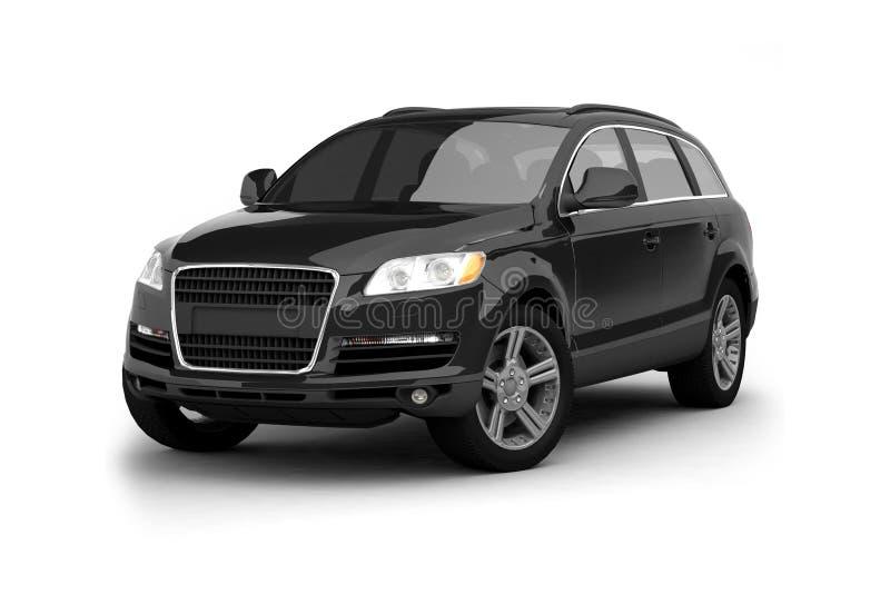 Cruzamento preto luxuoso SUV ilustração royalty free