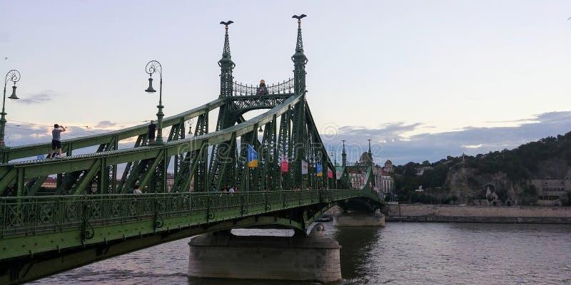 Cruzamento velho da ponte fotos de stock