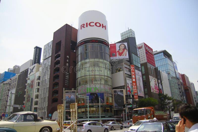 Cruzamento yon-chome de Ginza, Tóquio, Japão foto de stock royalty free