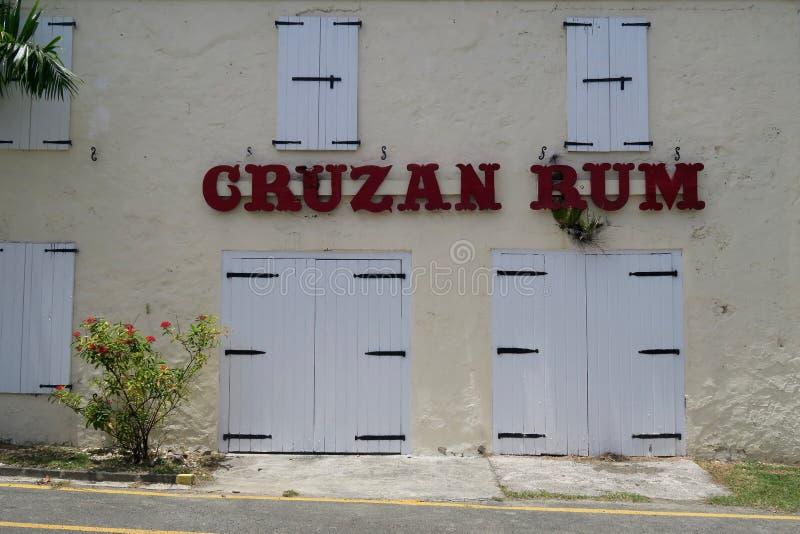 Cruzan Rum Distillery. On the island of Saint Croix in the U.S. Virgin Islands royalty free stock photo