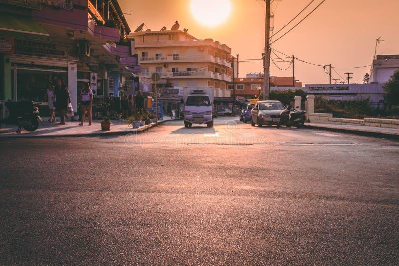 Cruzando en Lalyssos, Rhodos fotos de archivo libres de regalías