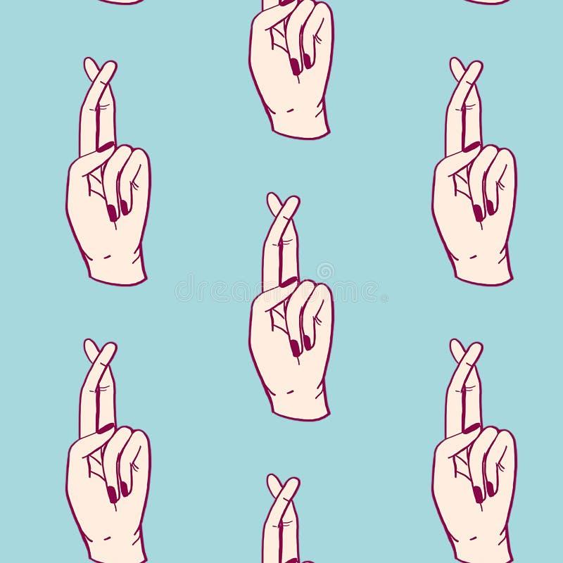 Cruze seus dedos ilustração royalty free