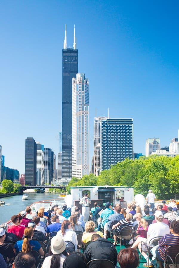 Cruzeiro do barco de Chicago imagens de stock