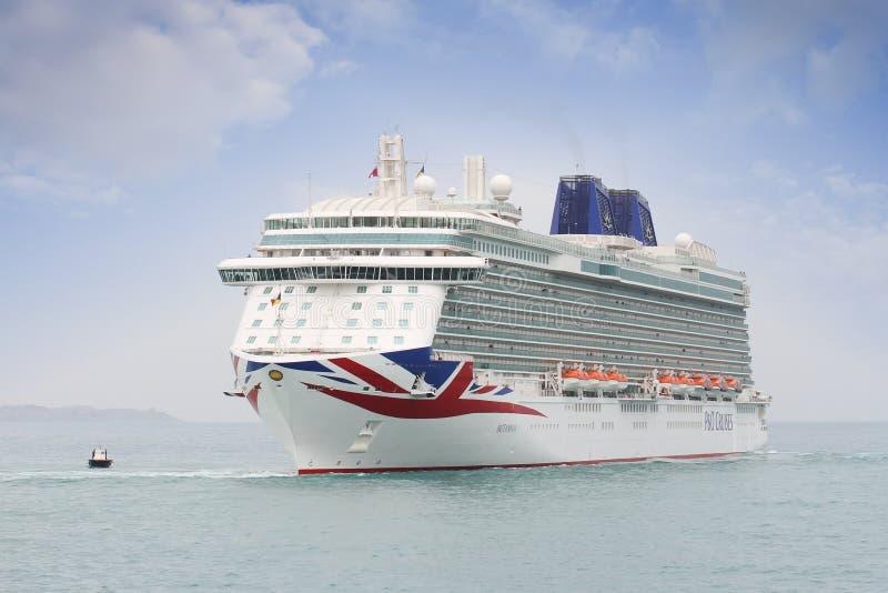 Cruzeiro grande Britannia de P&O Empresa imagens de stock