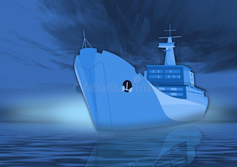 Cruzeiro no azul ilustração do vetor