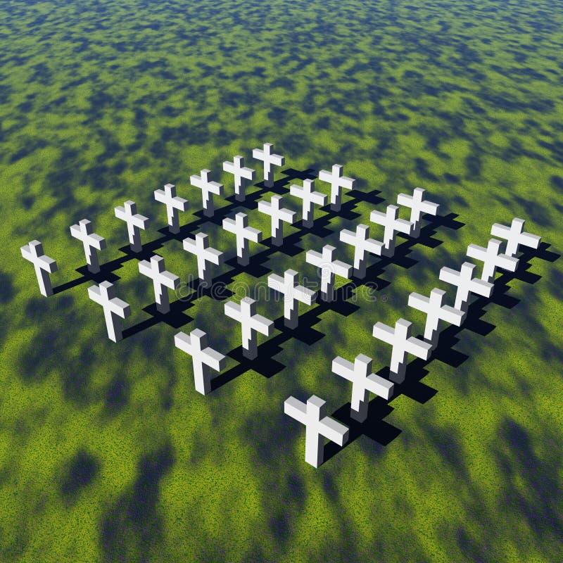Cruzes brancas ilustração do vetor