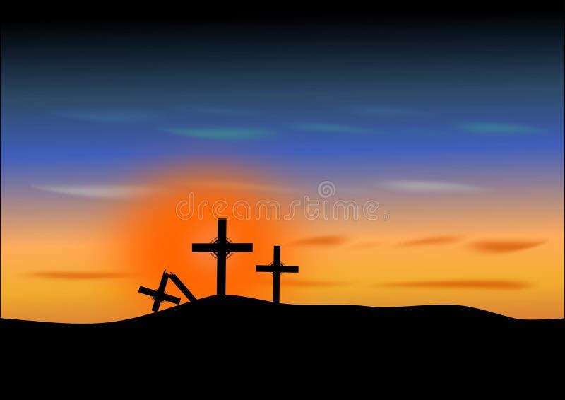 Cruzes de Easter-Três ilustração royalty free
