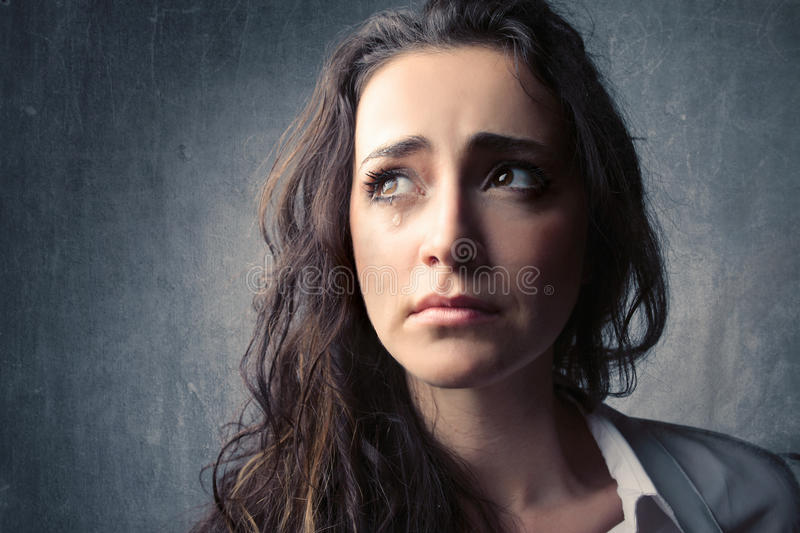 Cry stock photography