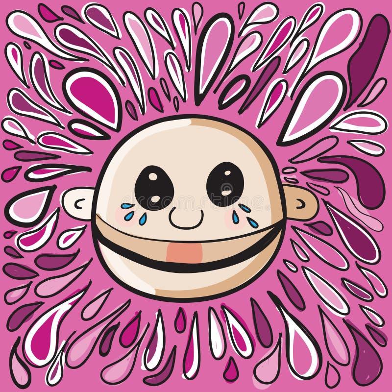 Download Cry baby stock illustration. Illustration of doodle, illustration - 16258076