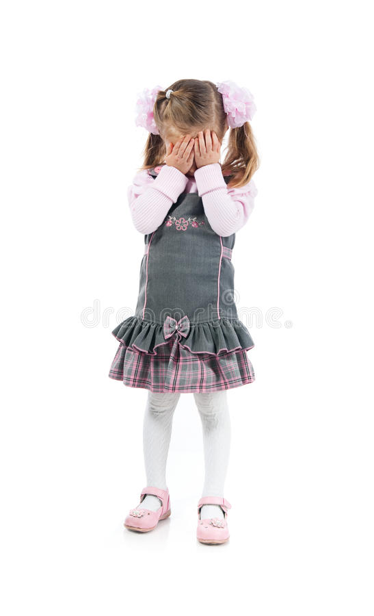Download Cry little girl stock photo. Image of floor, agitation - 17612696