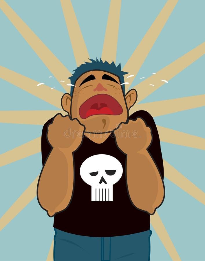 Crying stock illustration