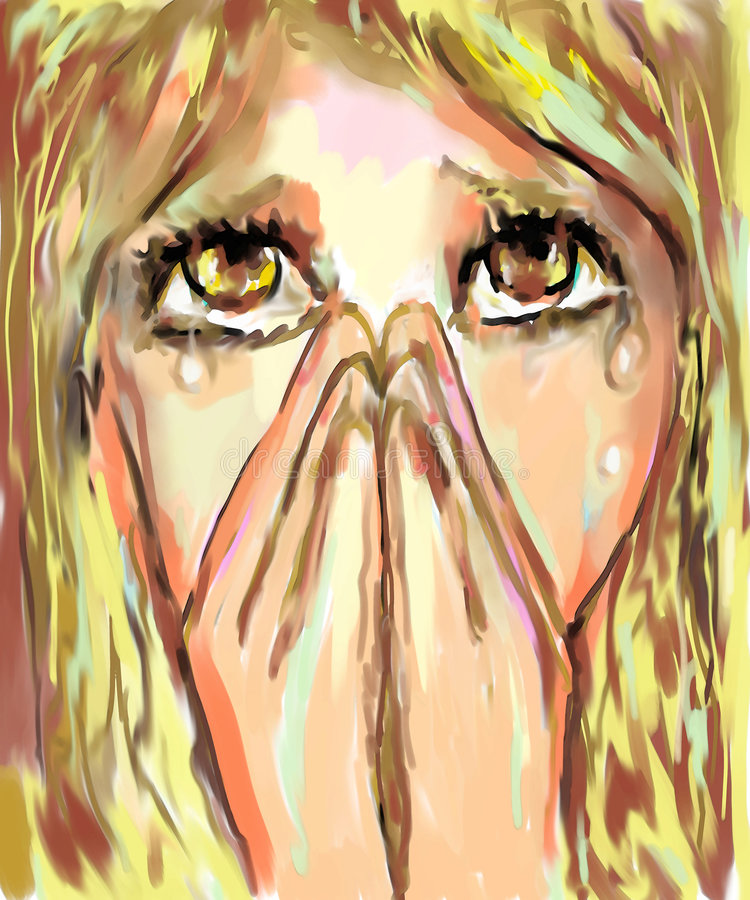 Download Crying stock illustration. Image of comix, comics, girls - 9015556