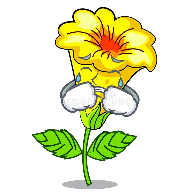 Free Crying Allamanda Flowers In A Cartoon Pots Royalty Free Stock Photos - 143102078
