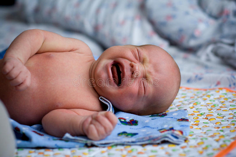 Download Crying baby stock image. Image of background, born, mother - 12400473