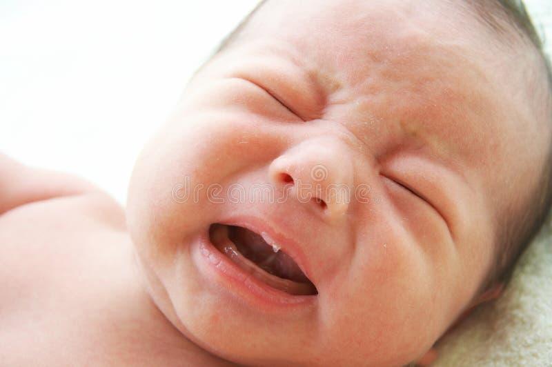 Crying baby royalty free stock image
