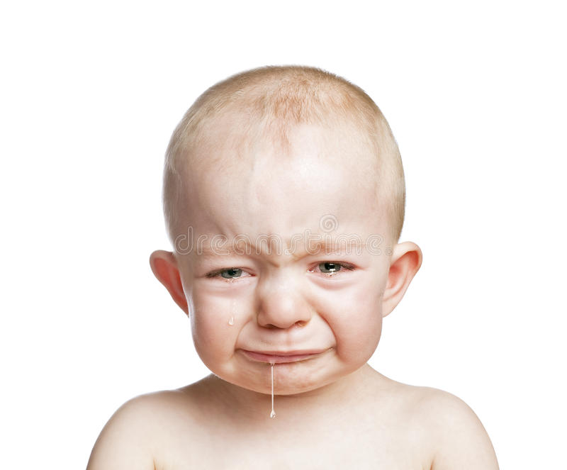 Crying baby boy royalty free stock photo