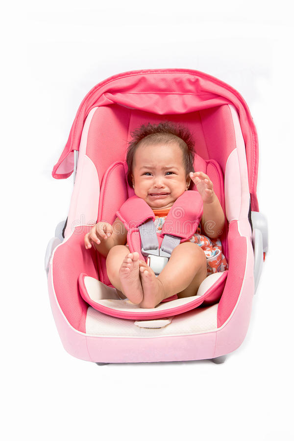 Crying Baby In Car Seat, Isolated Stock Photo - Image of baby ...