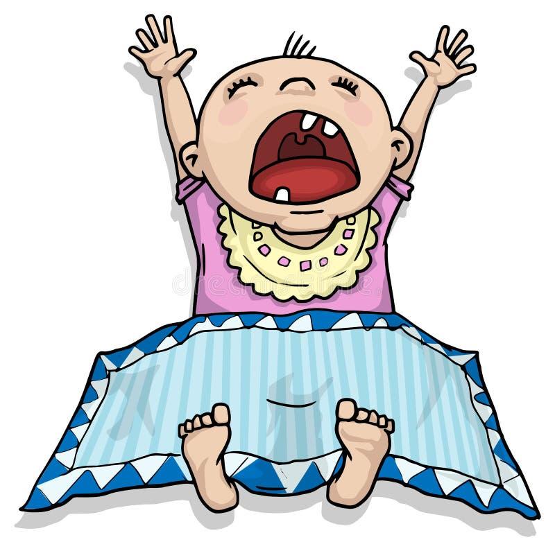 Crying baby stock illustration