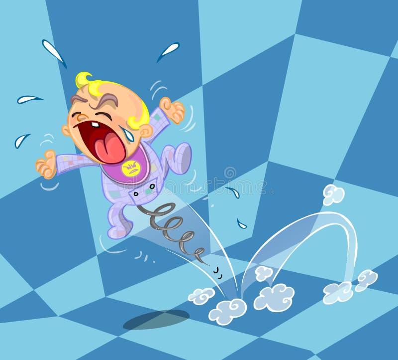 Download Crying baby illustration stock illustration. Illustration of children - 35905010