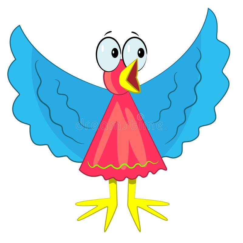 Crying bird icon. singing farm bird