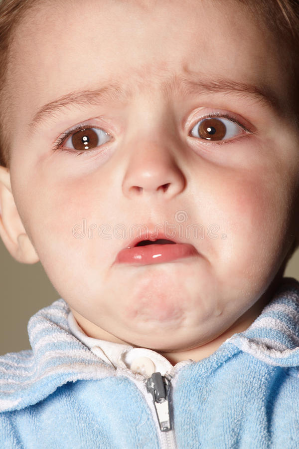 Crying boy stock photography