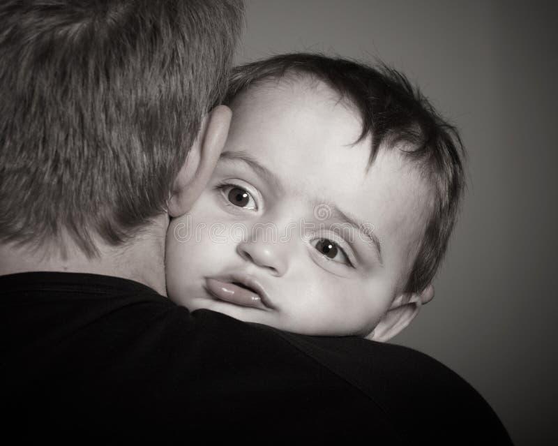 Crying boy royalty free stock image