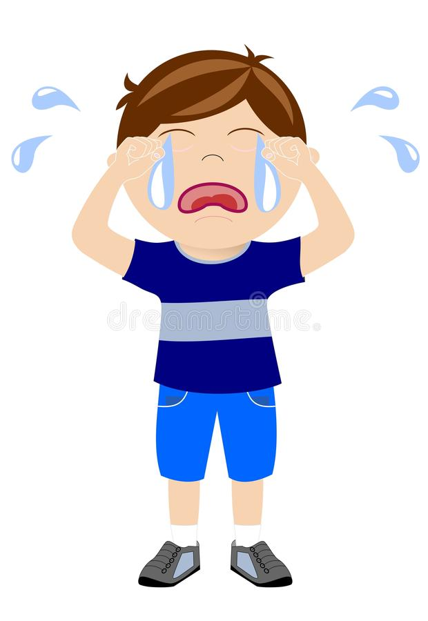 desperate little boy crying isolated stock vector sad and happy boy clipart sad boy clipart images