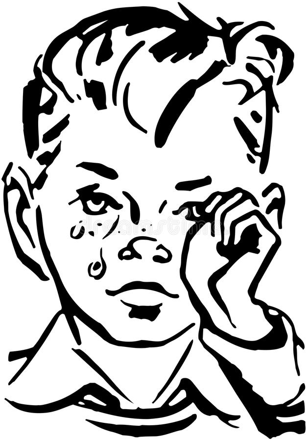 Crying Boy stock illustration