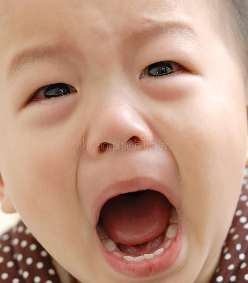 Download Crying boy face stock image. Image of unhappy, little - 18339837