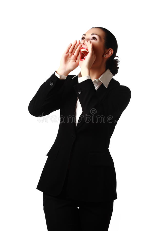 Download Crying business woman stock image. Image of invitation - 23984779