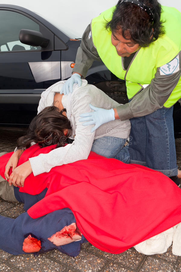 Download Crying after car accident stock image. Image of crash - 20310761