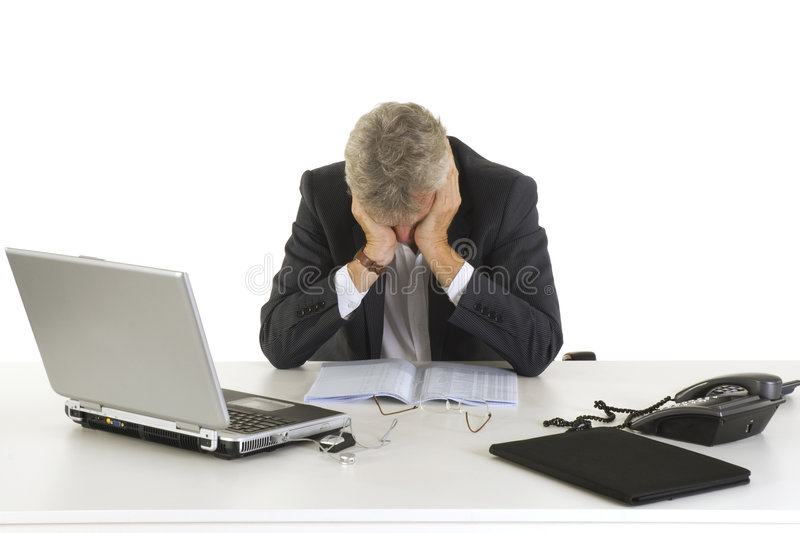 Crying ceo stock images