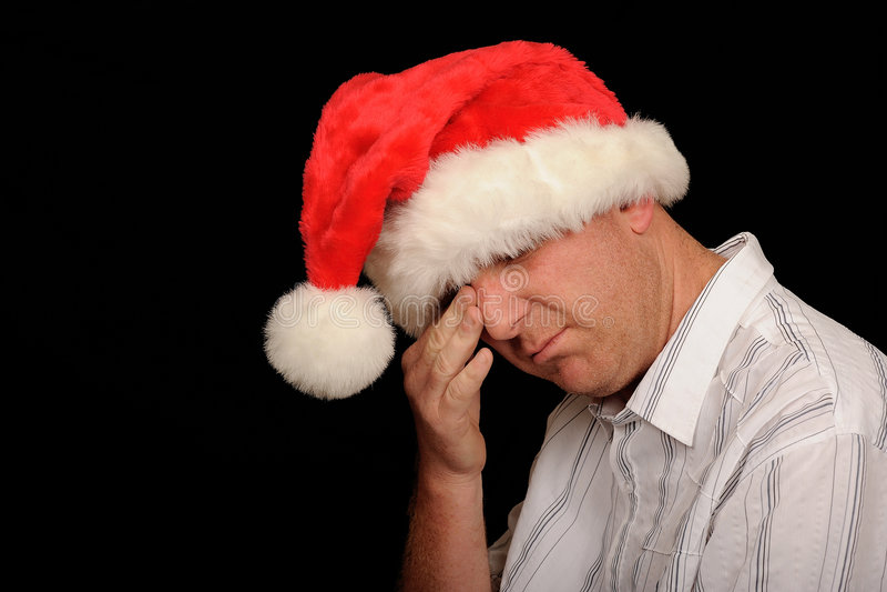 Crying Christmas Man