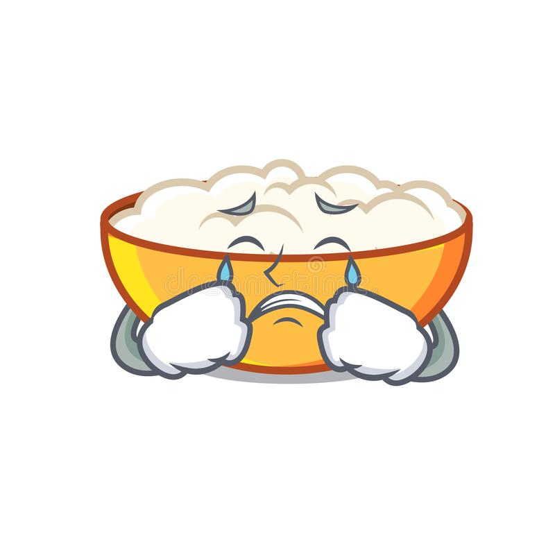 Crying cottage cheese mascot cartoon. Vector illustration vector illustration