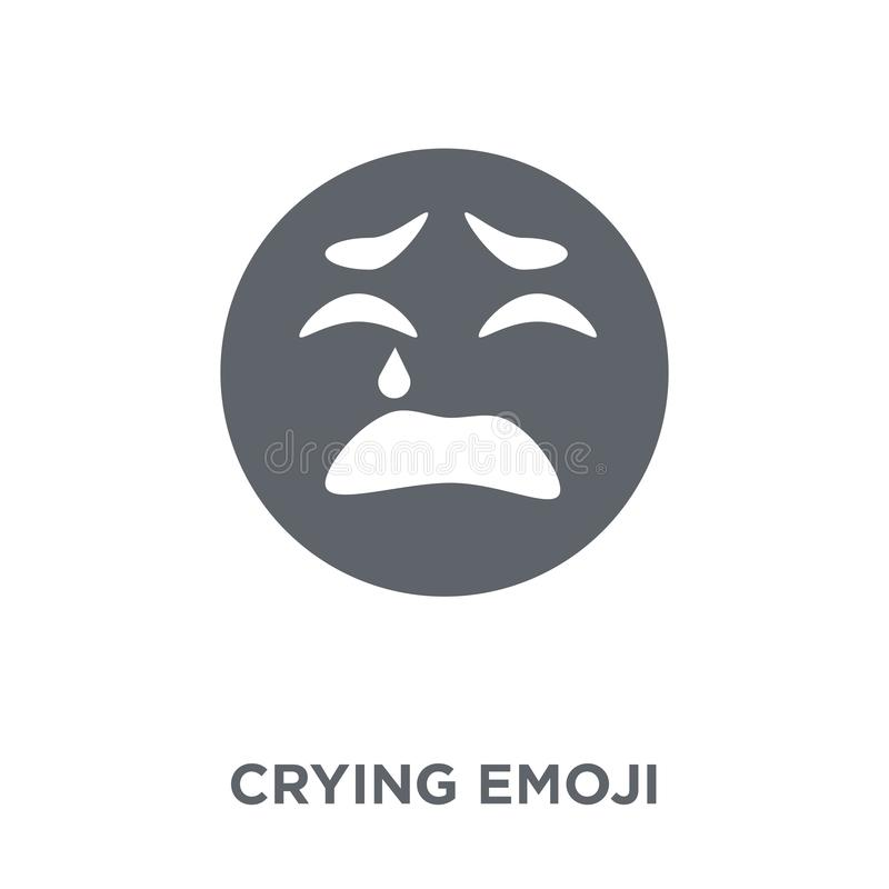 Crying emoji icon from Emoji collection. vector illustration