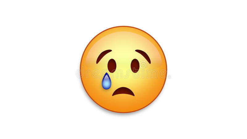 Crying Emoji with Luma Matte stock illustration