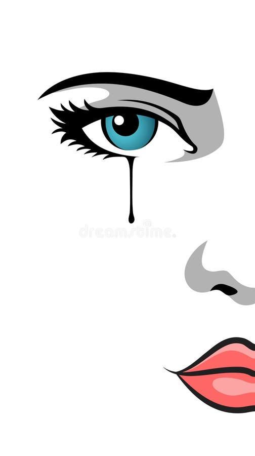 crying eye stock illustration illustration of character 19936734 rh dreamstime com