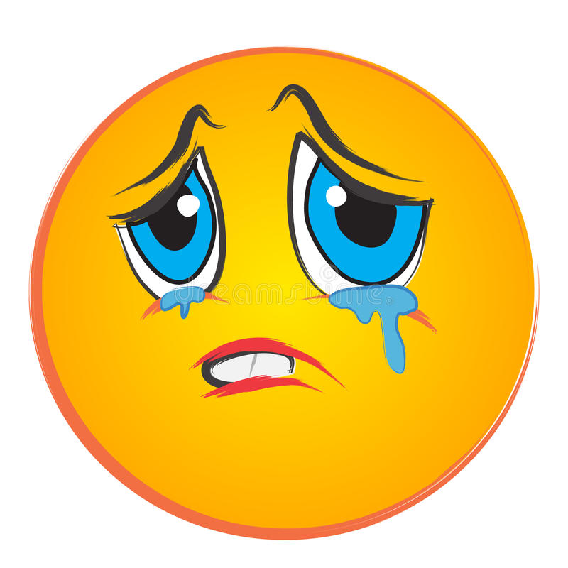 Crying face royalty free stock photo