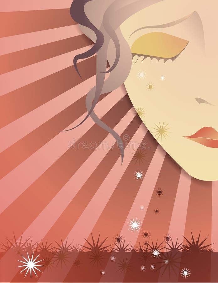 crying falling girl stars ελεύθερη απεικόνιση δικαιώματος
