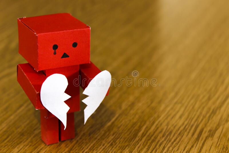 Crying Figure With Broken Heart Free Public Domain Cc0 Image