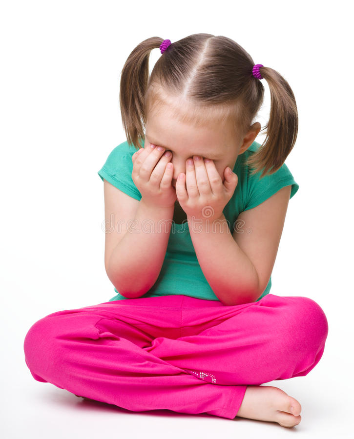 crying floor girl little sitting στοκ φωτογραφία με δικαίωμα ελεύθερης χρήσης