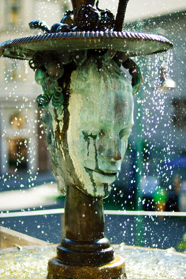 Crying fountain in Karlovy Vary stock photography